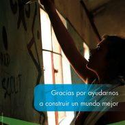 ¡Gracias por ayudarnos a Construir un Mundo Mejor!