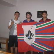 Tibaye con Scouts de Taiwán y Pakistán