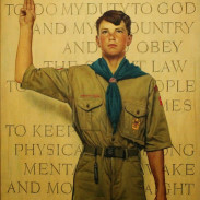 """On My Honor"" - Norman Rockwell 1945"